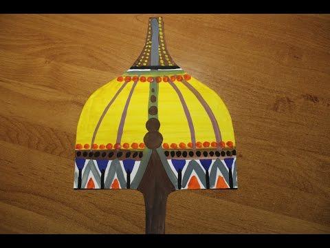 Как нарисовать шлем богатыря гуашью. Видео уроки рисования для детей 5-7 лет.