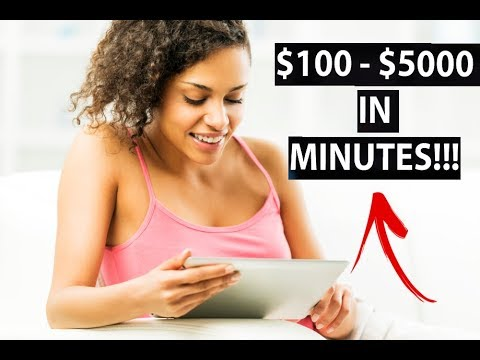 Make $100 – $5000 in JUST MINUTES! (Easy Way to Make Money Online)