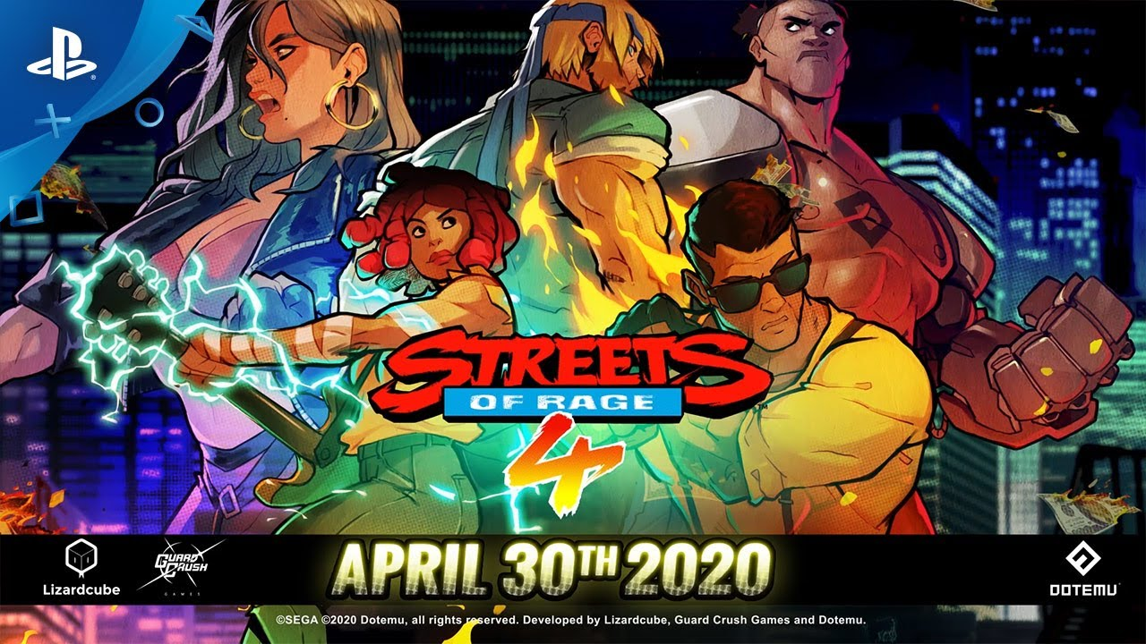 Streets of Rage 4 Launches April 30, Battle Mode Announced
