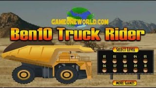 Ben 10 Truck Ride Game Flash Free Online - Ben 10 Car Games