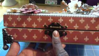 Altered Cigar Box --Welcome Fall