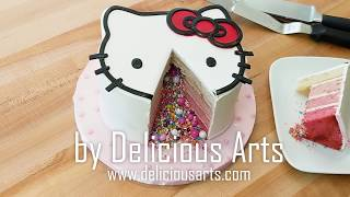 How to make a Hello Kitty Pinata Cake
