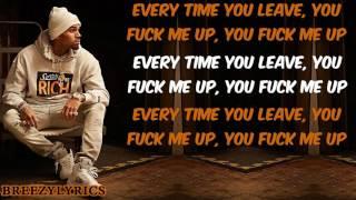Chris Brown  - Fuck Me I Lyric Video