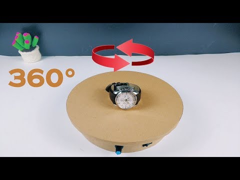 How to make a rotating display stand, especially simple (DIY)