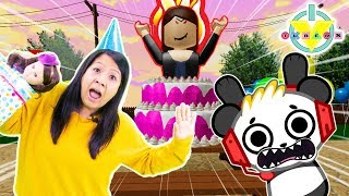 Ryan's Mommy Let's Play Roblox Halloween Spooky HAPPY BIRTHDAY ISABELLA ! with Combo Panda