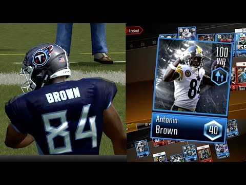 6b98c3220 99 OVR Diamond Mobile Master Antonio Brown Gameplay! The Best Team in Madden  NFL Overdrive Mobile by Stopde