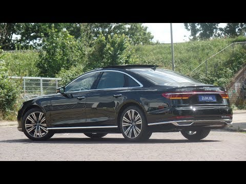 Audi NEW A8 50TDi in 4K  2019 Mythos Black 20 inch Parallel Spoke Walk around & detail inside