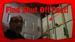 How To Find The Water Shut Off Valve To Your Home