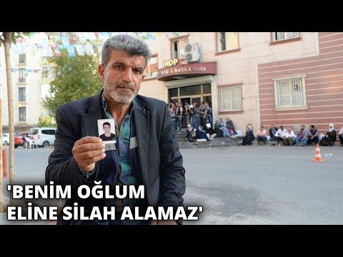 HDP önünde oturma eylemindeki baba: Oğlumu götürenler insan olamaz