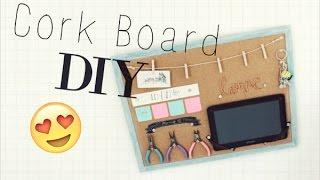 Cork Board DIY // Room Organization Video // Veronica Marie