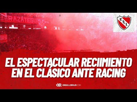 """""""Increible recibimiento en el clásico de Avellaneda entre Independiente y Racing"""" Barra: La Barra del Rojo • Club: Independiente • País: Argentina"""