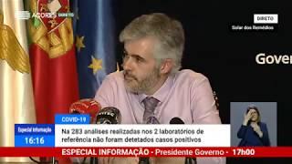 30/04: Ponto de Situação da Autoridade de Saúde Regional sobre o Coronavírus nos Açores