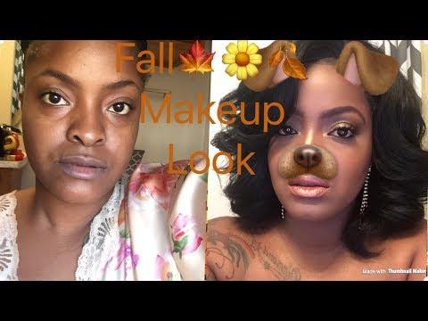 Bronze fall makeup look