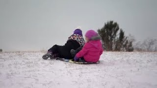 Even if it is –49 C, these daycare kids play outside