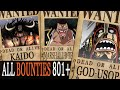 Download Video All Bounties Updated To Chapter 801+ In ONE PIECE