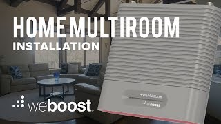 How to Install the Home MultiRoom Cell Signal Booster   weBoost