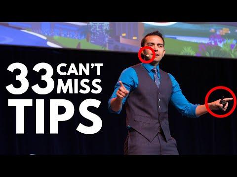 33 Public Speaking Tips (from a 5-figure Keynote Speaker)