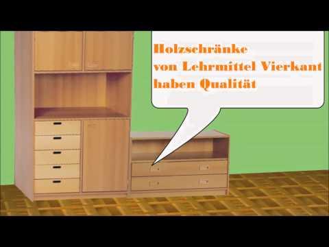 Holzschrank,Glastürenschränke,Schrankwand,Schrank mit Wertfach,Regalschrank,Lehrmittel Vierkant