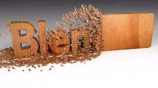 Blender – Wood Chipping Text Animation tutorial