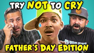 Dads React To Try Not To Cry Challenge (Fathers Day)