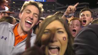 Auburn fans go crazy after beating Alabama in the Iron Bowl