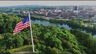 Lynchburg, Virginia From The Air