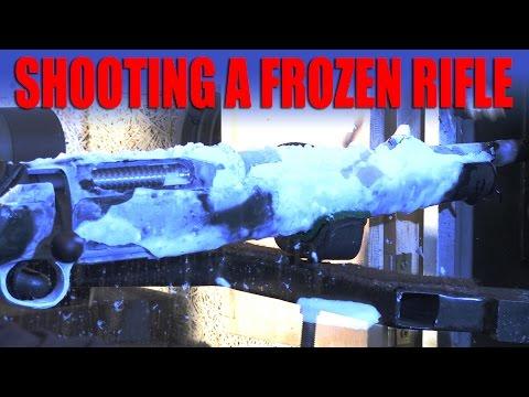 Shooting a Frozen Rifle
