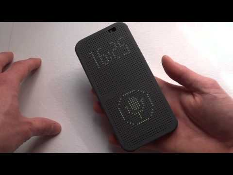 Recensione Dot View Cover originale per HTC One M8