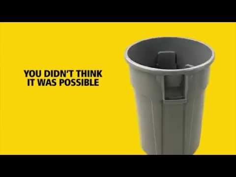 Product video for Vented BRUTE® Recycling 44 Gal Blue