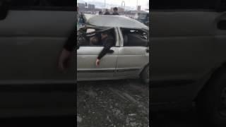 Сумасшедшая авария в Казахстане!