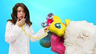 Видео для детей. Веселая Школа. Май Литл Пони заболели.