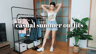 CASUAL SUMMER OUTFIT IDEAS | Summer Fashion Lookbook 2020