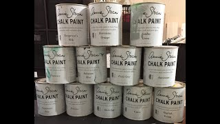 Annie Sloan Chalk Paint Blends Mixed Colors Swatches