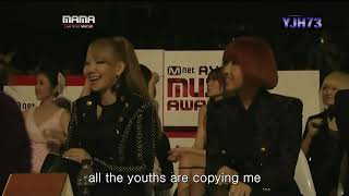 101128 GD,TOP 2010 MAMA [intro+knockout](eng sub)