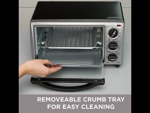 BLACK+DECKER TO1313SBD 4 Slice Toaster Oven Best Seller