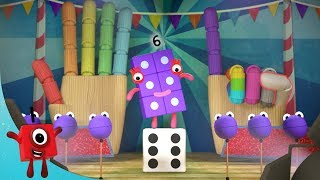 Numberblocks - Roll the Dice! | Learn to Count | Learning Blocks