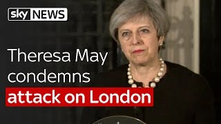 Theresa May speaks outside Downing Street after London terror attack