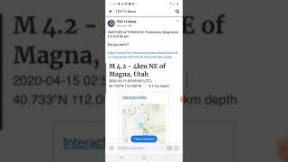 Earthquake in Utah