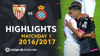 Highlights Sevilla FC vs RCD Espanyol (6-4) Matchday 1 2016/2017