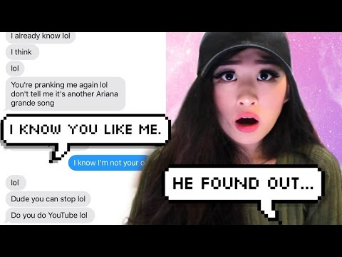 Pranking my CRUSH with Ariana Grande's 'Just A Little Bit Of Your Heart' Lyrics!!