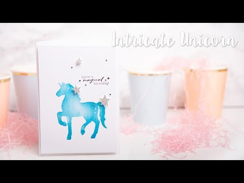 Sizzix - How to Make Intricate Unicorn Birthday Card