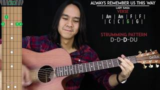 Always Remember Us This Way Guitar Cover Acoustic   Lady Gaga  🎸 |Tabs + Chords|
