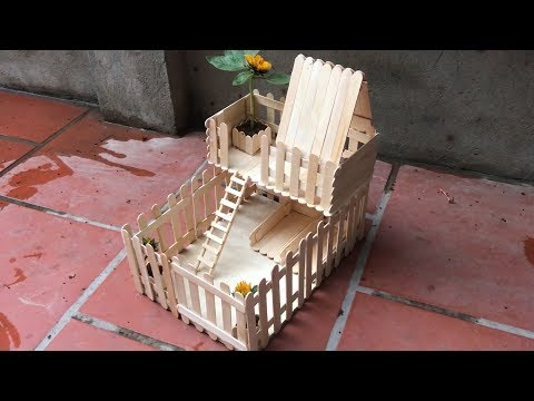 How to Make Popsicle Stick House for Mouse Hamster #02