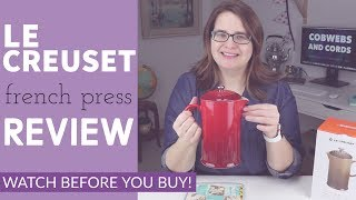 LE CREUSET French Press FULL REVIEW - coffee and tea maker! is it worth it?