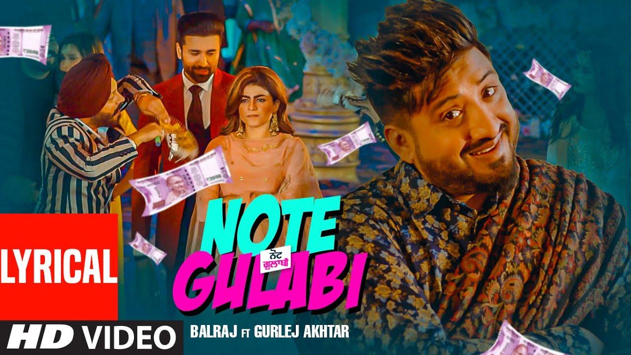 Note Gulabi Song Lyrics