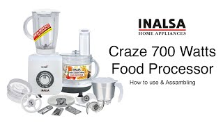 How to use Inalsa Craze Food Processor, best food processor in its class