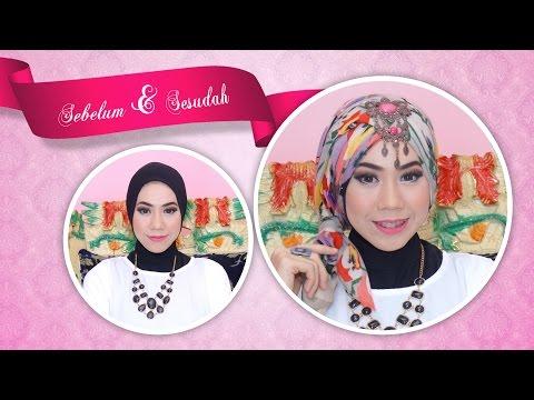 Video Cara pakai jilbab kreasi modern simpel tanpa jarum pentul atau peniti.