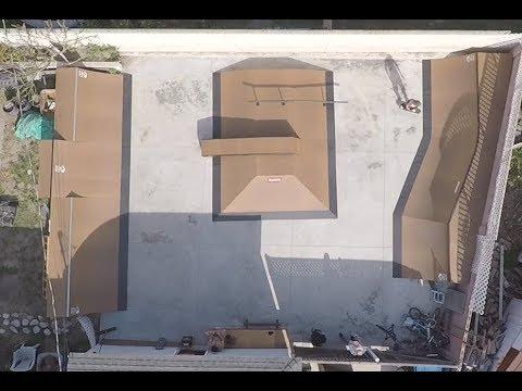 Myles Strampello Back Yard Skatepark!!