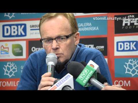 Konferencja prasowa po meczu Stomil Olsztyn - Widzew Łódź