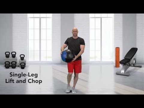 How to do a Single Leg Lift and Chop